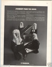 1972 PAPER AD Yamaha Piano Baby Grand Judges White Wigs