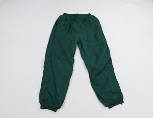 Vintage 90s Champion Mens Large Classic Logo Lined Nylon Joggers Pants Green