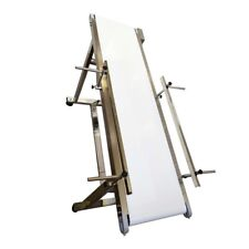 """IntBuying White Flat Conveyor for Transportation 53""""*11.8"""" with 2 Guardrails New"""