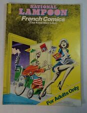 National Lampoon French Comics The Kind Men Like Adult Only 1977