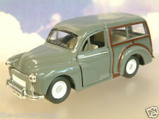 SAICO 1/26 DIECAST MORRIS MINOR TRAVELLER WITH PULL BACK MOTOR IN GREY OVER 5""