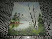 Original Oil Painting Lake Forest Signed MAILLET 87 Canadian Artist Canvas 10x8