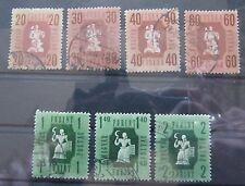Briefmarken Ungarn 1946 Freimmarken aus Mi. 947 - 959