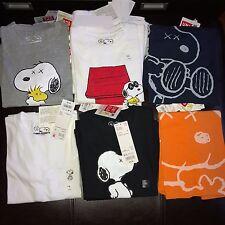 Kaws X Peanuts X Uniqlo Kinder Snoopy T-Shirts