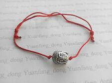 Glück Rot Schnur Chinesisch Feng Shui Damen Buddha Charm Anhänger Armband