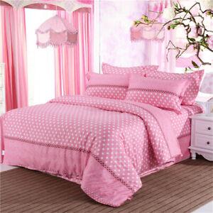 Spots Stars Girl King Single Queen Quilt/Doona/Duvet Cover Set Pillowcase Bed