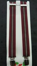 BRACES for BOYS/GIRLS/CHILDREN -NEW - WINE WITH STRIPES,  1-6 yrs. UK MADE
