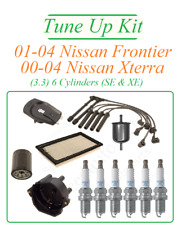 Tune Up For 00-04 Nissan Xterra Frontier 3.3v6: SparkPlug Cap Rotor WireSet Fuel