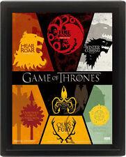 Game of Thrones 3D-Effekt Poster im Rahmen Sigil 26 x 20 cm NEU & OVP
