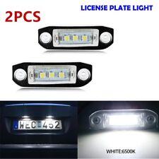 2PCS White LED Number License Plate Light For VOLVO S80 S60 C70 V70 XC90 XC60