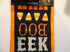Halloween Orange AHH BOO EEK Candy Corn Table Runner 13x36 NWT              AC56