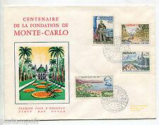 MONACO 1966 timbres 690/693, FDC PREMIER JOUR, CENTENAIRE FONDATION MONTECARLO