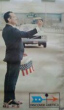 1972 Richard Nixon Discover America Gemini Rising Poster #253 / Political Spoof