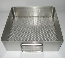 """New Made-in-the-Usa Stainless 10-1/2"""" x 11"""" x 3-1/2"""" Basket Tray, Cheese Mold !"""