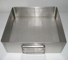 "New USA Stainless 10 1/2"" x 11"" x 3 1/2"" Autoclave Sterilization Basket Tray !!"