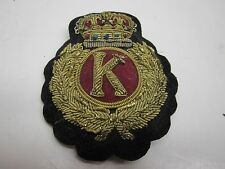 VINTAGE GREAT BRITAIN MILITARY GOLD BULLION K WITH CROWN