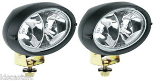 2 NEW Hella Oval 100 Double Beam Work Lamp (Long Range) 12 volt driving light