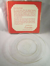 "Vintage Avon Etched Glass Doorknocker 8"" Collector Plate Sales Rep Gift 1970s"