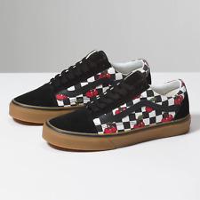Vans Old Skool Cherry Checker Black/Gum Classic Skate Shoes Men 6 / Women 7.5