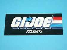 1988 GI JOE LEAFLET PRESENTS SUPER TROOPER PROMO MINI COMIC ORDER FORM - HASBRO