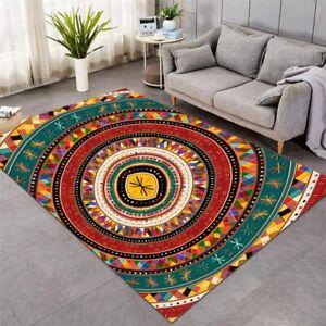 Aztec Tribal African Large Rectangle Rug Carpet Mat Living Room Bedroom
