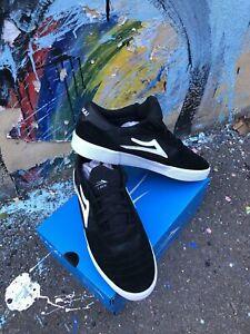 Lakai Shoes Cambridge Black Green Camo Suede USA SIZE Skateboard Sneakers