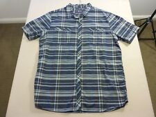 037 MENS NWOT BILLABONG GREY / NAVY / RUST CHECK S/S SHIRT SZE XL $80 RRP.