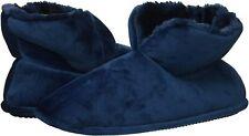 Dearfoams Women's Solid Velour Bootie Slipper, Tide Blue, Size  EjNK
