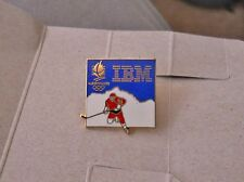 Vintage 1992 Albertville Winter Olympics Ice Hockey pin - IBM Corporate Sponsor