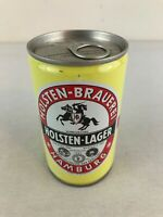 Holsten Lager Brauerei Hamburg Steel Pull Tab Germany Beer Can Bottom Opened