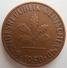 1950 GERMANY 1 PFENNIG G