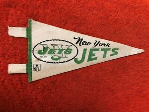 1960'S VINTAGE NFL MINI PENNANT NEW YORK JETS