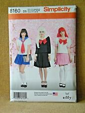 SIMPLICITY PATTERN 8160 COSPLAY SAILOR COSTUMES MISSES  SIZES 4 6 8 10 12 UNCUT