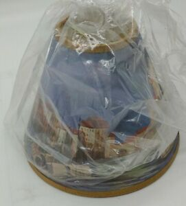 """Town on water Clip On Lampshade 4"""" tall x 5"""" base"""