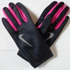 7991e0dc1a6 Nike Women s Run Thermal Gloves Reflective Silver Vivid Pink Black Large New