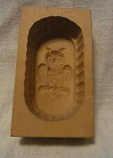 Vintage Carved Wood German BUTTER MOLD Owl #B