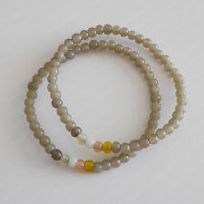Jewellery Uk boutique brand Set of 2 Mini Grey Pastel Glass Beaded Bracelets Bee
