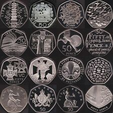 Proof 50p Fifty Pence Coins 1971 - 2015 Choose Your Dates Coin Hunt Kew Gardens