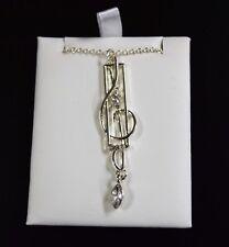 Silver Treble Clef Necklace (J01)