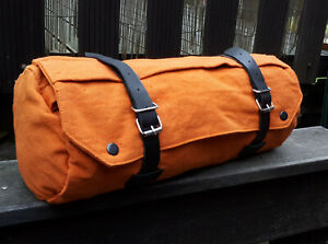40cm Canvas Stoff Lenker Sattel Pack TASCHE Toolbag Harley Werkzeug Gepäck Rolle
