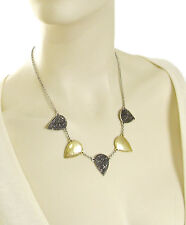 LUCKY BRAND 'Royal Jewels' Pave Hematite Crystal Guitar Pick Two-Tone Necklace