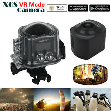 360° Panoramic Camera 3D VR Action Sports Wifi 16MP 4K HD Waterproof 220° FOV