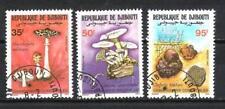 Champignons Djibouti (27) série complète de 3 timbres oblitérés