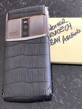 Genuine Vertu NEW Signature Touch CLOUS DE PARIS ALLIGATOR RARE Stunning Exotic