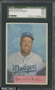 1954 Bowman #170 Duke Snider Brooklyn Dodgers HOF SGC 70 EX+ 5.5