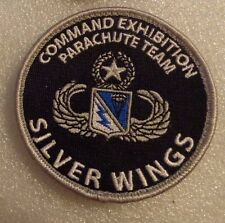 US ARMY PATCH, 507TH PARACHUTE EXHIBITION TEAM,SILVER WINGS,WITH VELCR