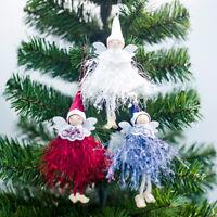 Xmas Angel Plush Doll Toy Árbol de Navidad Colgantes Adorno Decoración del hogar