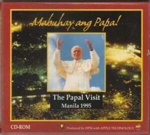 1995 Pope JOHN PAUL II  World Youth Day Manila Philippines Visit CD-ROM Souvenir