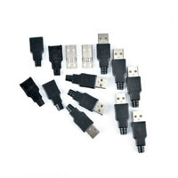 2/5/10pcs type a usb 4 pin male socket connector plug termination plastic shell