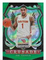 Obi Toppin 2020 Panini Prizm Green Crusade NY Knicks Rookie Card RC #87 - Mint